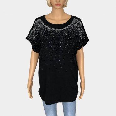 Bluse Damen Übergröße mit Strass-Steinen in verschiedenen Farben