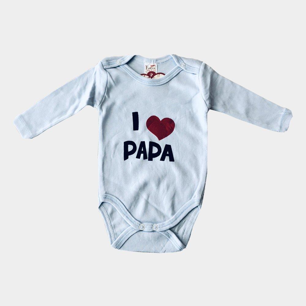 """Baby Body, Strampler mit Aufdruck """"I love Papa"""" in drei Farben für Babys zwischen 0 bis 6 Monaten weiches Baumwollmaterial Angenehm zu tragen"""