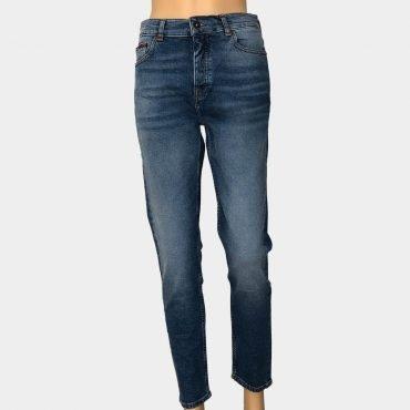 """Tommy Hilfiger Jeans """"Izzy"""" High Rise Slim, dunkelblau mit mittelhohem Bund,Bio-Baumwolle"""