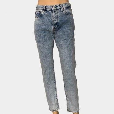 Tommy Hilfiger Jeans blau, Classic fit, Straight Leg, helle Waschung, Knöpfe zum Schließen