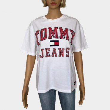 Tommy Hilfiger T-Shirt grau, mit augesticktem Tommy Jeans Logo, Bio-Baumwolle