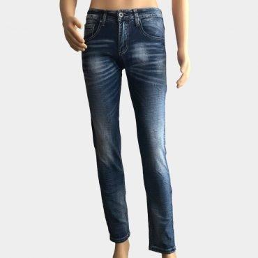 Stylische ABC Jeans für Herren gerader Schnitt dunkle Waschung
