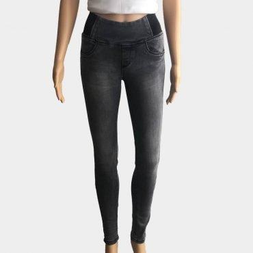 Dromedar Damen Jeans Straight Fit grau mit Gummibund