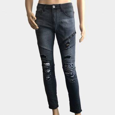 G-Cause Jeans für Herren, destroyed mit Reisverschluss Details, Slim Fit