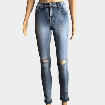 Gourd Jeans Skinny Stretch High-Waist Destroyed mit Push-Up Effekt