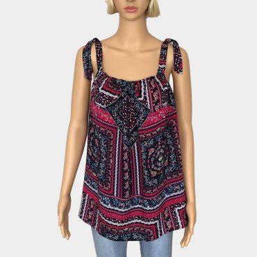 S.Oliver Black Label ärmellose Bluse mit Blumen Muster aus 100% Viskose