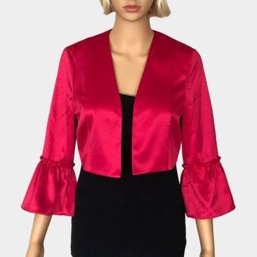 S.Oliver Black Label kurzer Satin-Blazer, pink mit Kimono-Ärmeln