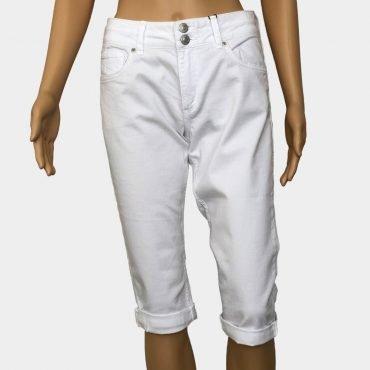 """S.Oliver Capri Jeans """"Catie"""" weiß mit Reißverschluss Slim Fit"""