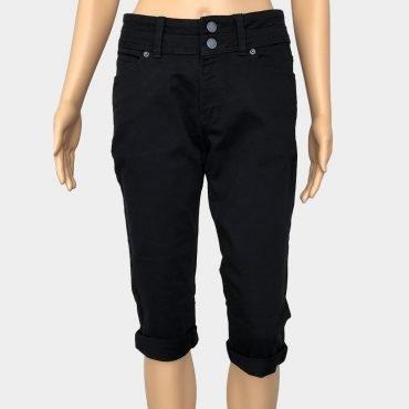 """S.Oliver Capri Jeans """"Catie"""" schwarz mit Reißverschluss Slim Fit"""