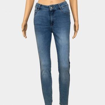 """Comma Jeans """"June"""" hellblau mit blauem Seitenstreifen Skinny Fit"""