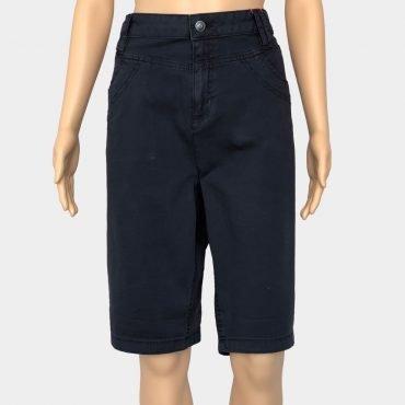 S.Oliver Jeans, Smart Bermuda Übergröße blau mit Reißverschluss