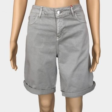 S.Oliver Jeans, Smart Straight Bermuda beige mit Seitennaht