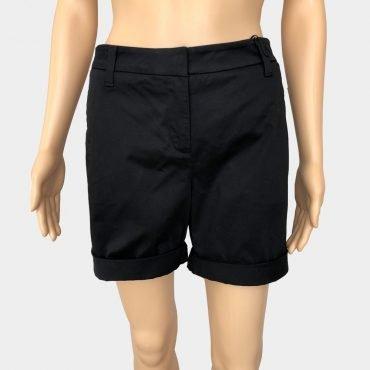 Elegante kurze Hose Comma, schwarz mit Klettverschluss und Reißverschluss