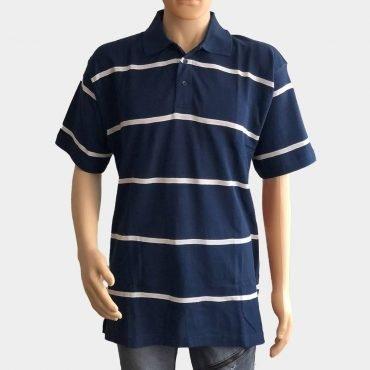 """Poloshirt """"Novelle"""" für Herren kurze Ärmel gestreift aus 100% Baumwolle"""