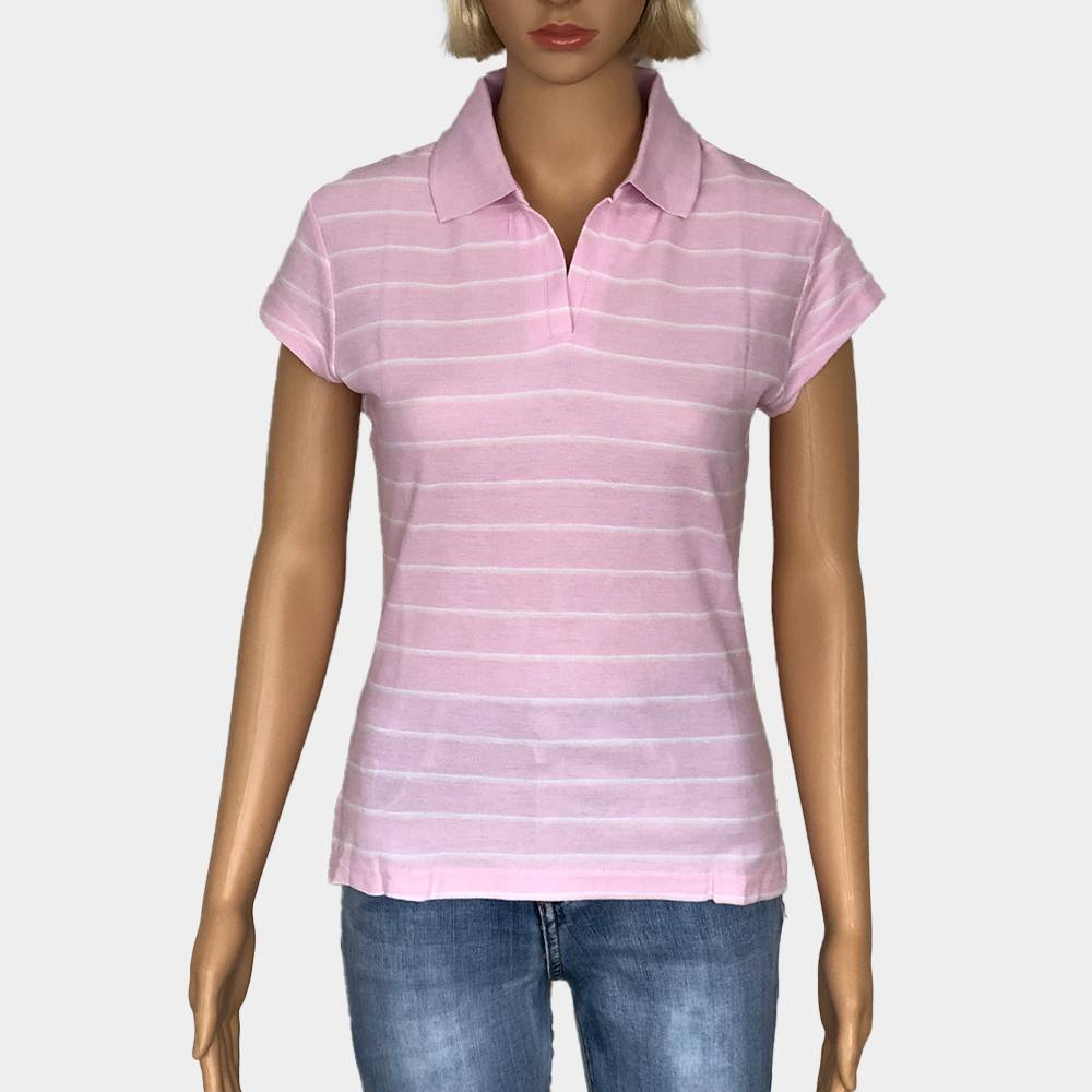 """Poloshirt """"Novelle"""" für Damen kurze Ärmel gestreift 100% Baumwolle"""