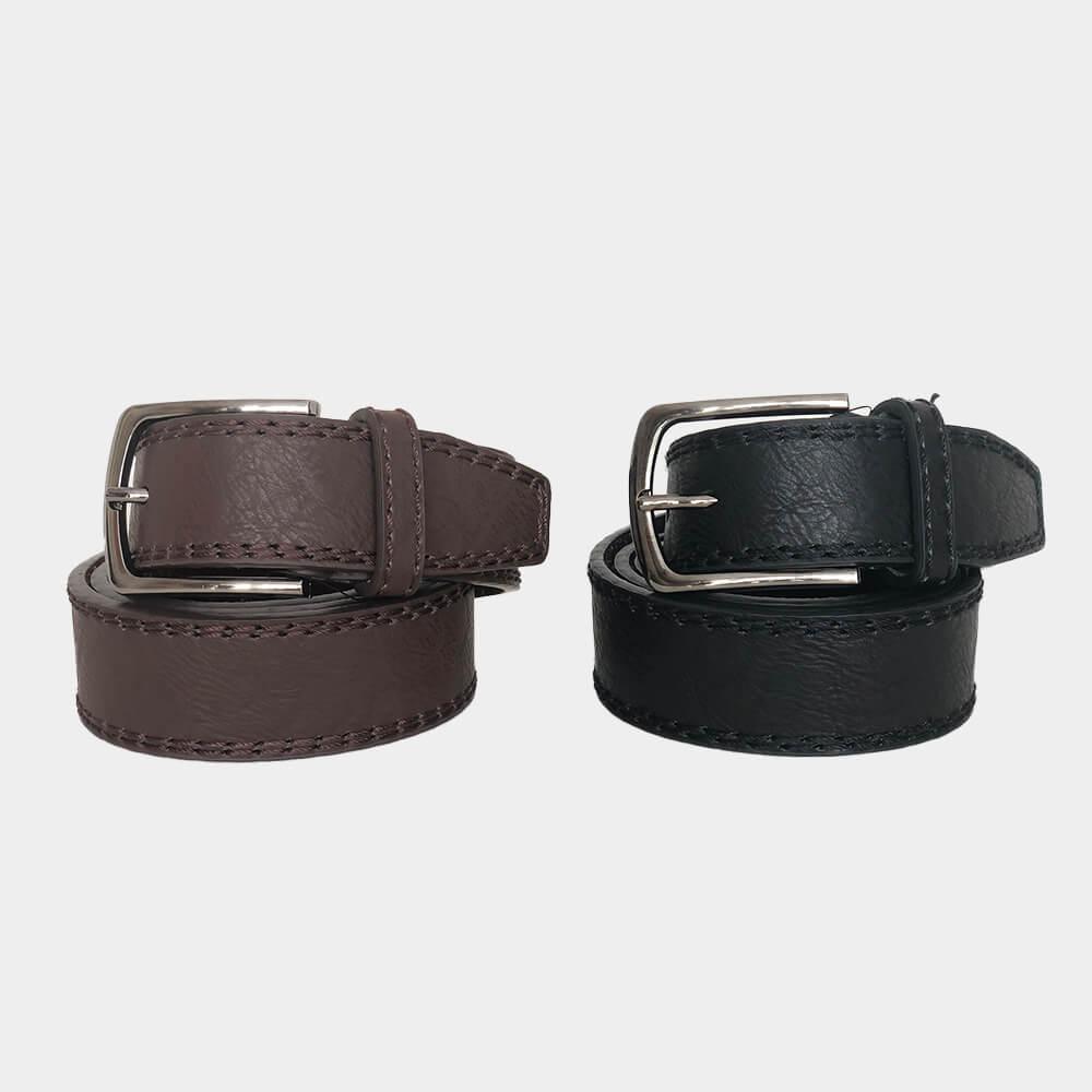 Herren Ledergürtel für Jeans oder Anzug Echtleder in zwei Farben